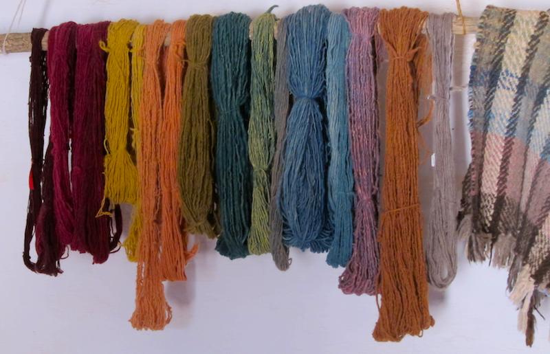 hand-dyed wools, el rancho de las golondrinas, santa fe