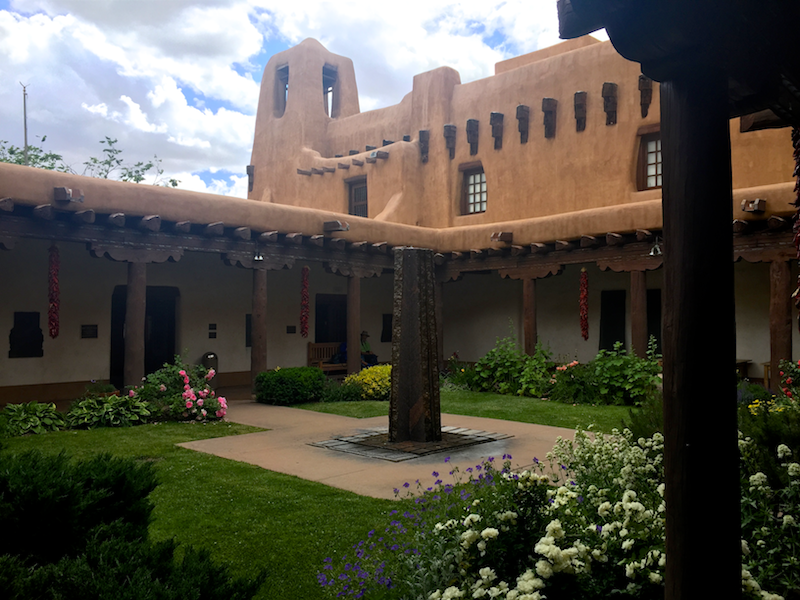 exterior, new mexico museum of art