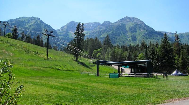 Mount Timpanogos and the ski lift, sundance resort