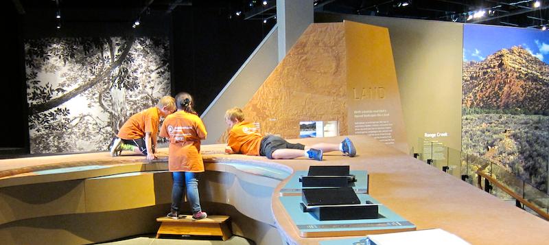 children enjoying the museum