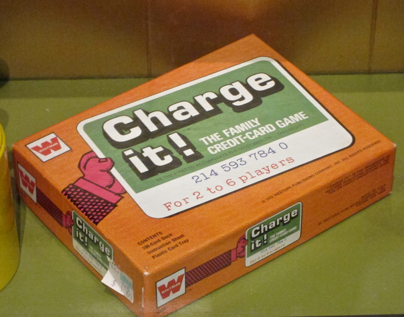 """charge it"" credit card game"