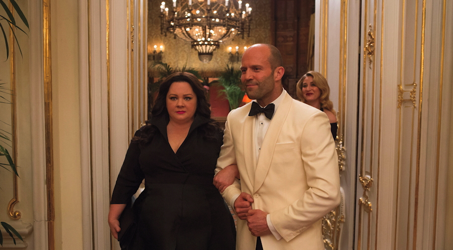 "Cooper (Melissa McCarthy) and Ford (Jason Statham), from ""Spy"""