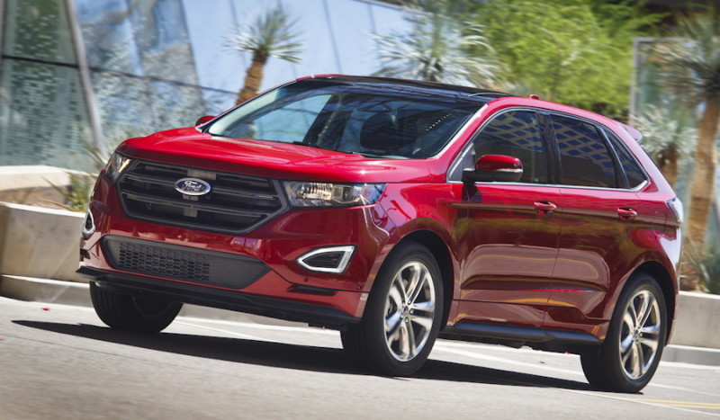 2015 ford edge, red