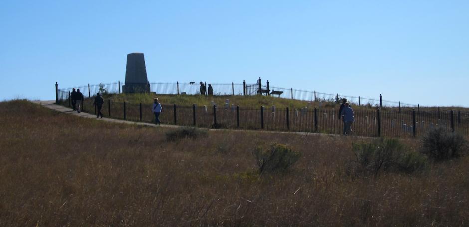 main memorial obilisk, custer battlefield montana