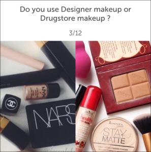 wishbone: designer makeup or drugstore makeup?
