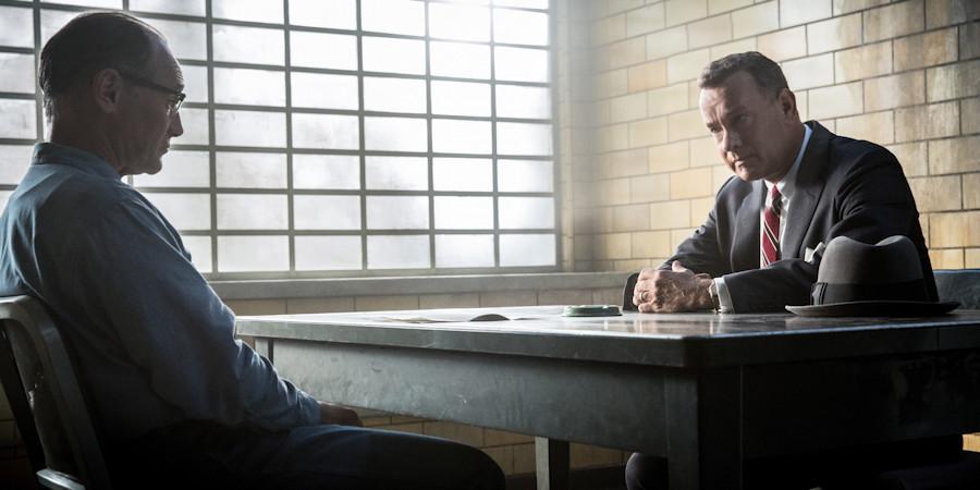 "Donovan (Tom Hanks) meets with Abel (Mark Rylance), from ""Bridge of Spies"""