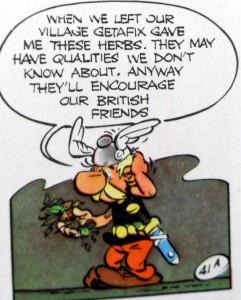 Asterix invents tea - briton english