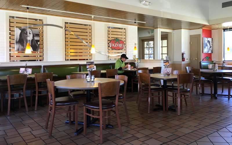 fazoli's interior, northglenn CO