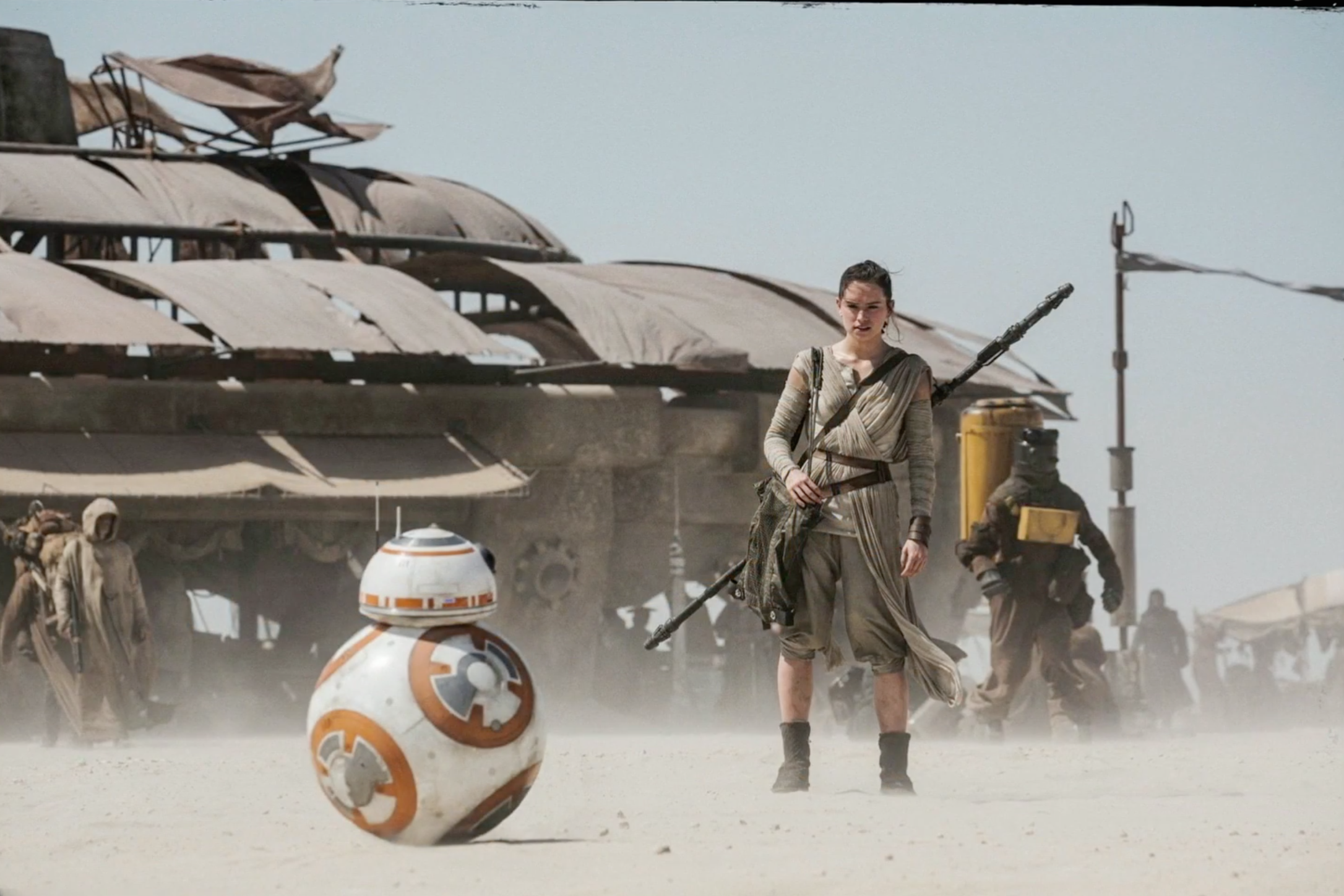"BB-8 and Rey (xx), from ""Star Wars: The Force Awakens"""