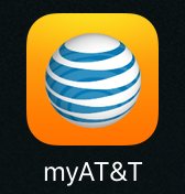 my AT&T app icon, apple iphone ios 9