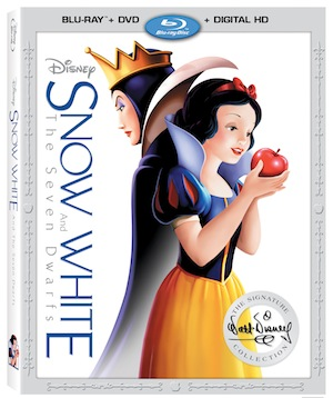 snow white and the seven dwarfs, disney blu-ray release, dvd box