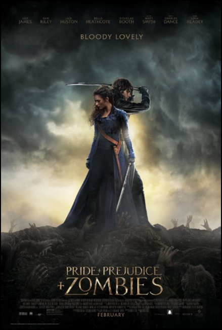 pride and prejudice and zombies movie poster one sheet