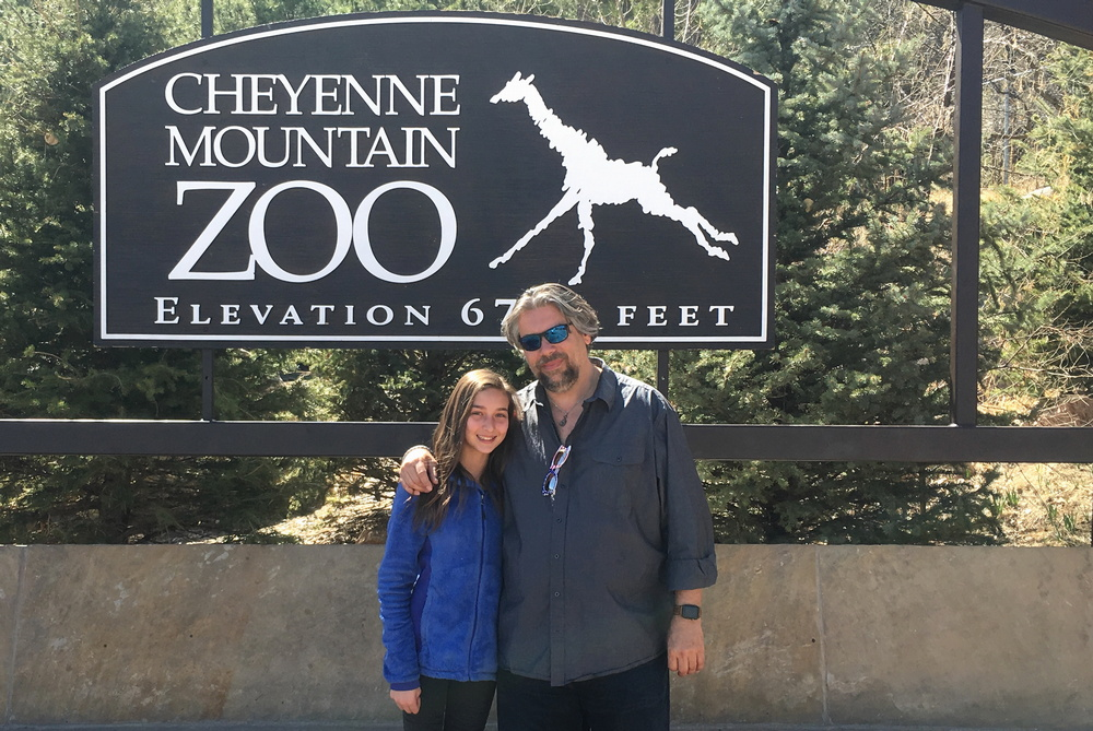 dave taylor and daughter at cheyenne mountain zoo, colorado springs colorado