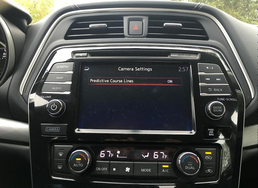 """camera"" button, dashboard, 2016 nissan maxima"