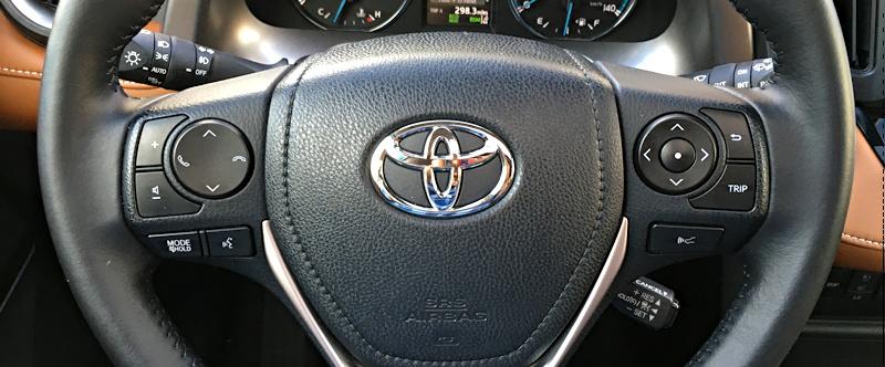 2016 toyota rav4 hybrid steering wheel