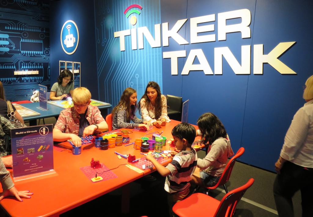 enjoying the 'tinker tank' at the robots revolution exhibit, dmns