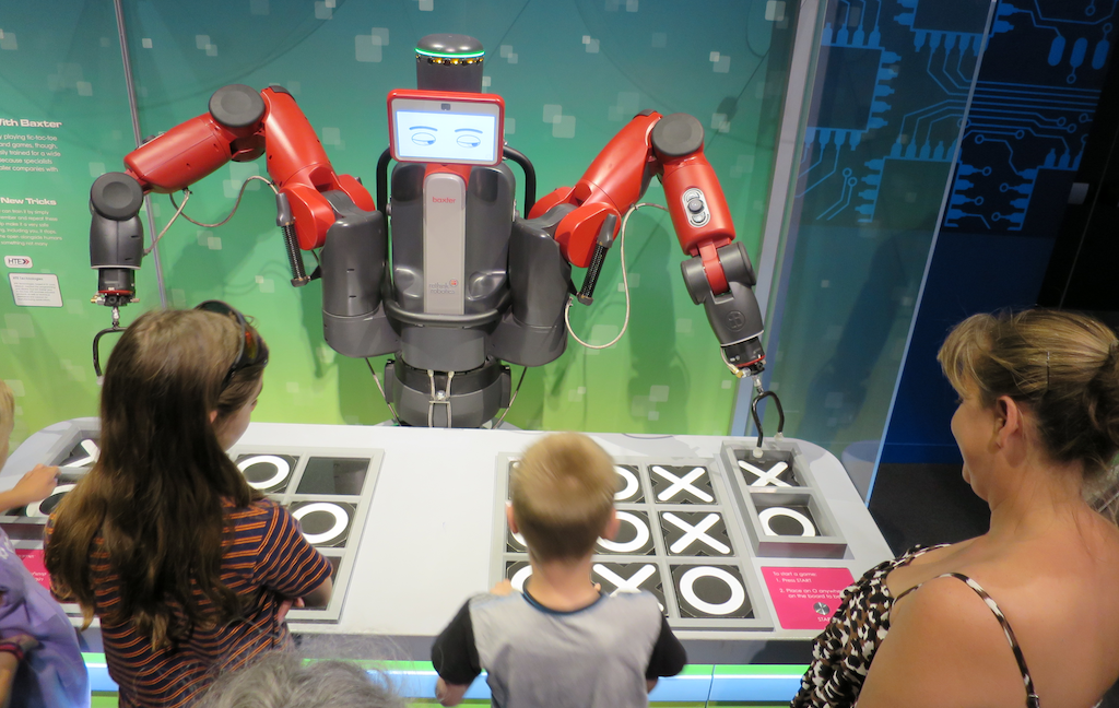 Baxter tic-tac-toe robot, DMNS