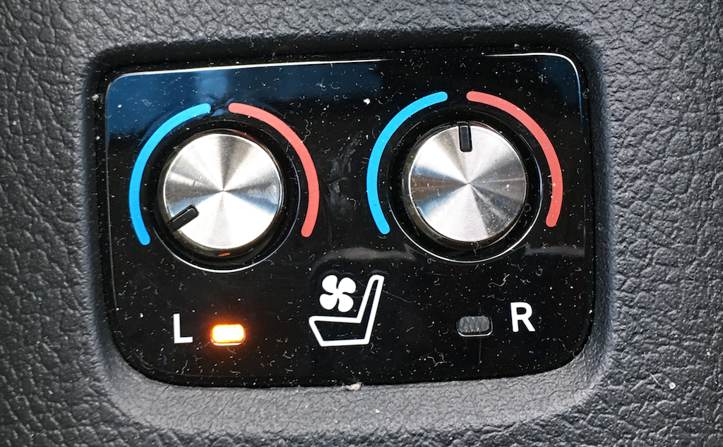 2016 toyota avalon hybrid sear warmer controls