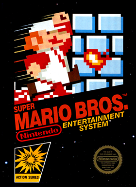 super mario bros for NES, original box packaging