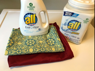 all free clear liquid and pacs, clean pillowcases
