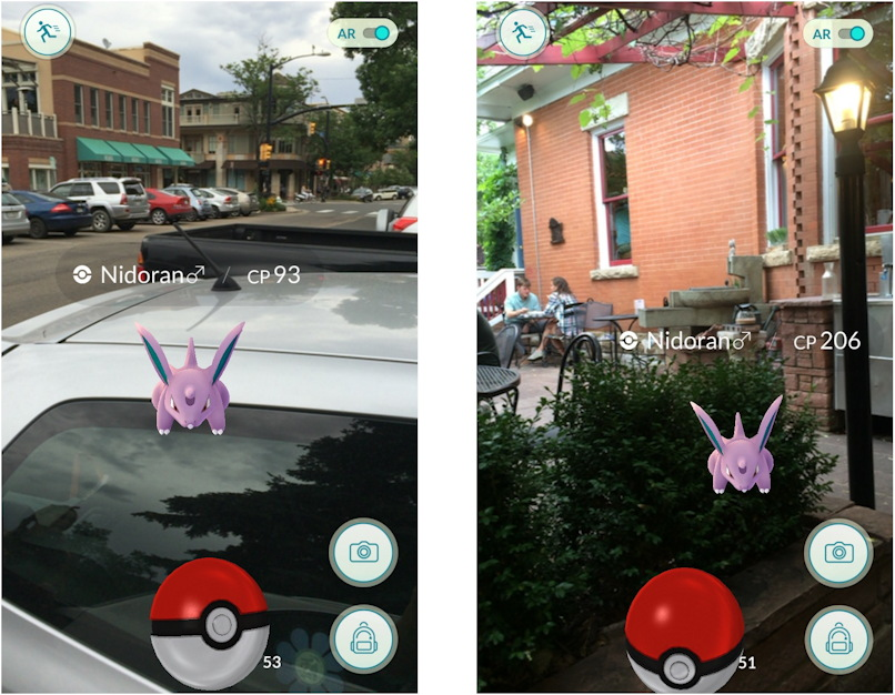 pokemon go augmented reality demo example