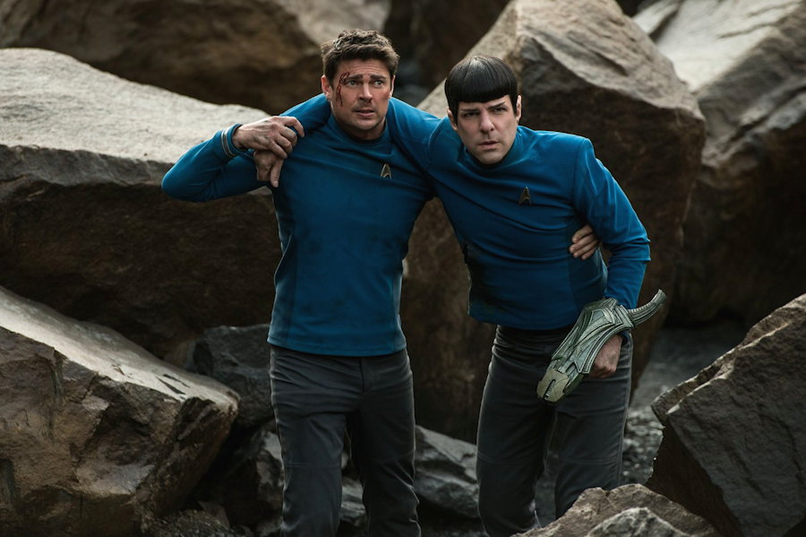 "Scotty (Karl Urban) and Spock (Zachary Quinto), from ""Star Trek Beyond"""