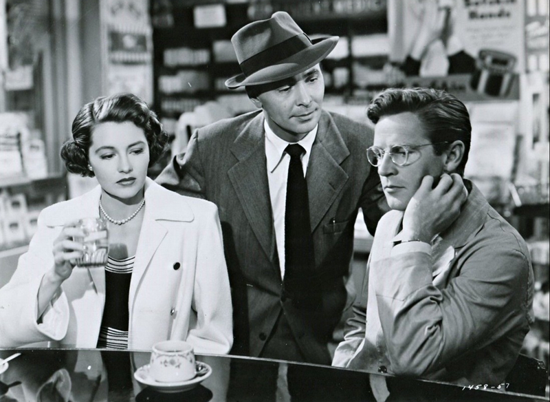 """X and Y being interrogated by Lt. Z, from """"Tension"""" 1949"""