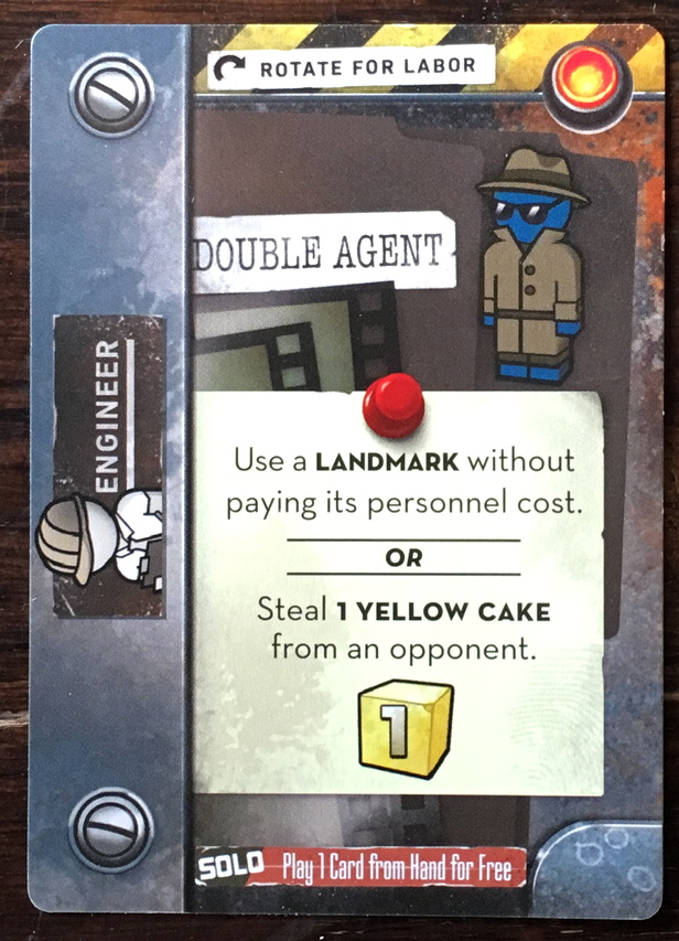 double agent card, the manhattan project chain reaction
