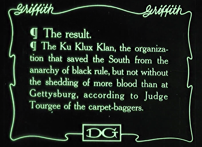 the birth of a nation, justification for the creation of the kkk ku klux klan