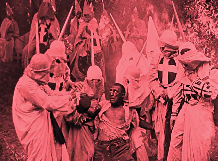kkk trying a black man, from the birth of a nation