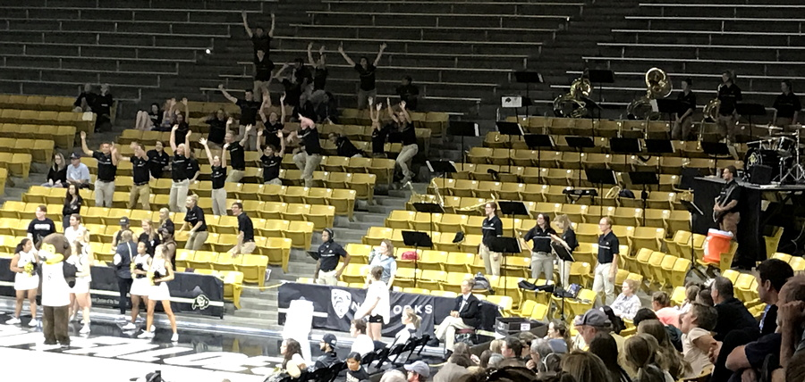 cu marching band jumping up bad sportsmanship