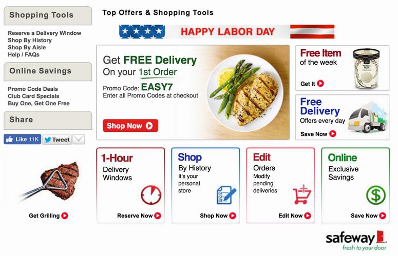 shop.safeway.com home page