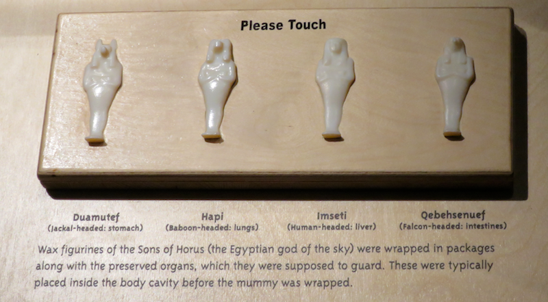 sons of horus figurines, egyptian tombs
