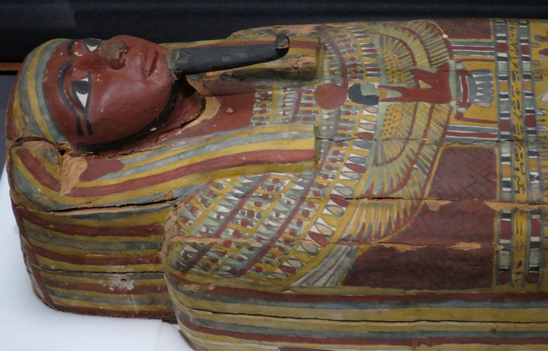 painted egyptian coffin mummy mummies denver museum nature science