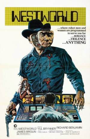 westworld (1973) movie poster one sheet yul brynner