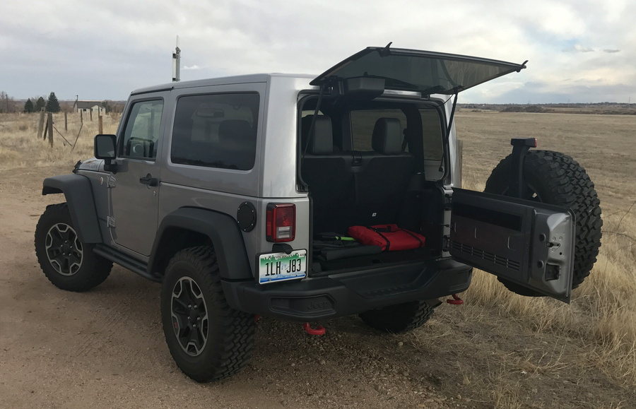 2016 jeep wrangler rubicon hard rock, back hatch open