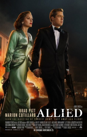 allied 2016 movie poster one sheet