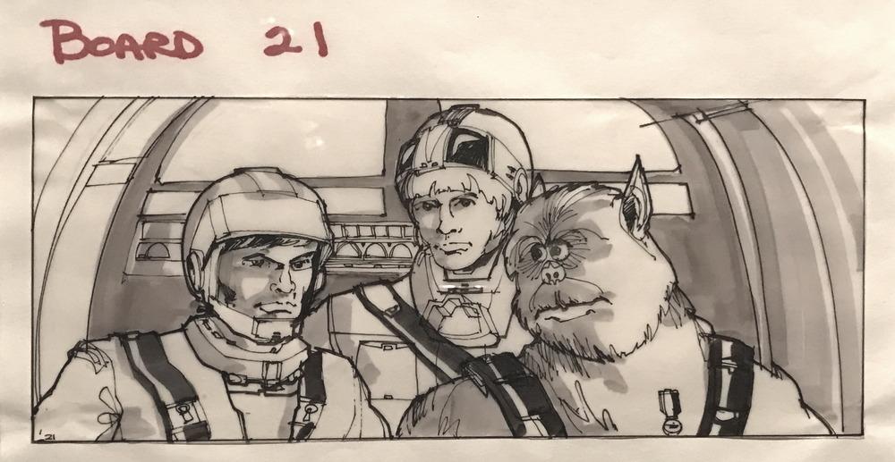 sketch storyboard star wars chewbacca design