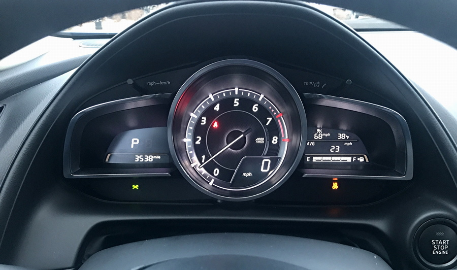 2017 mazda cx-3 dashboard