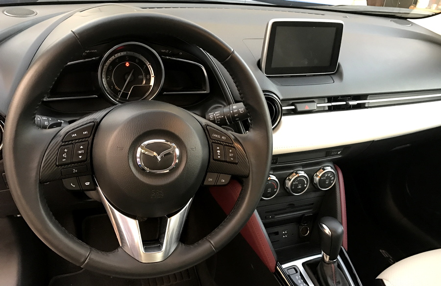 2017 mazda cx-3 front dashboard interior design