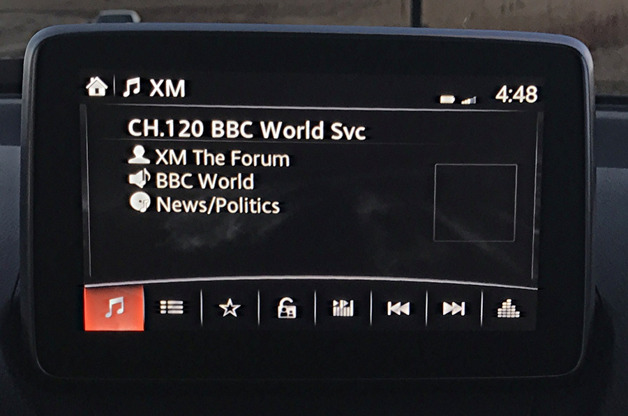 2017 mazda connect entertainment system xm radio bbc world service