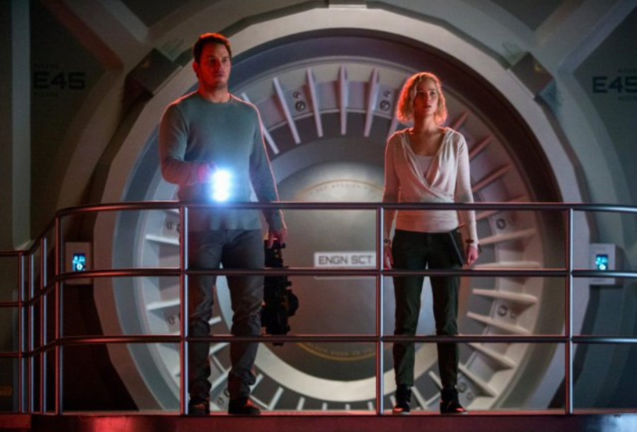 "Preston (Chris Pratt) and Lane (Jennifer Lawrence) from ""Passengers"""