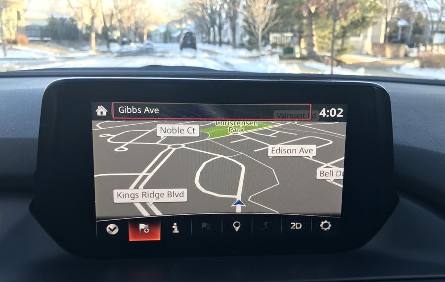 2017 mazda6 nav system map screen