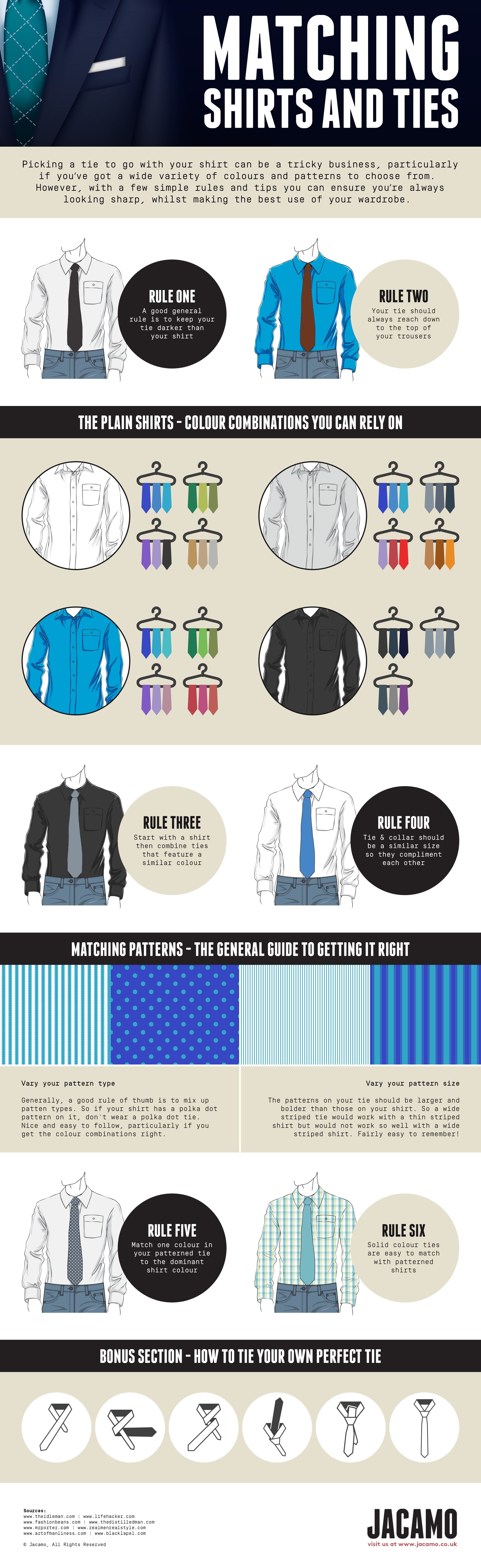 how to match shirt and ties