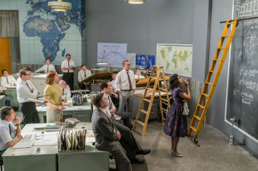 "Katherine Johnson (Taraji Henson) works some equations, ""Hidden Figures"""