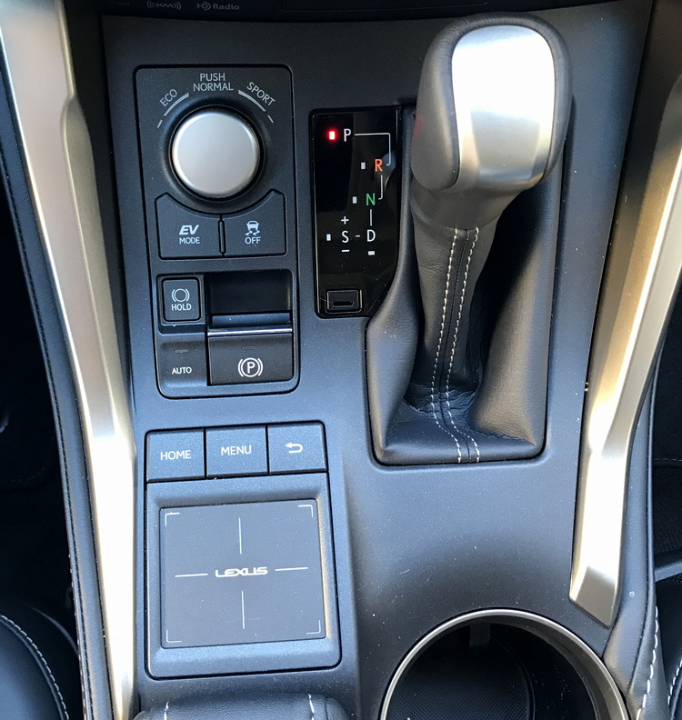 2017 lexus nx300h center controls shifter