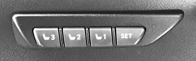 automatic seat programming buttons - lexus 2017 nx300h