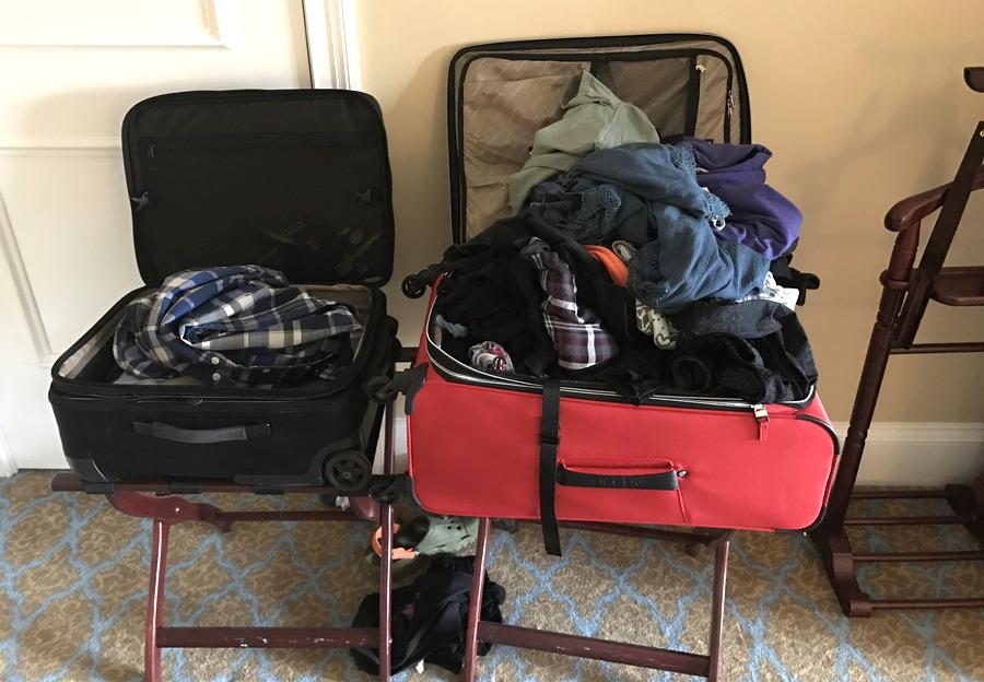 big suitcase, little suitcase