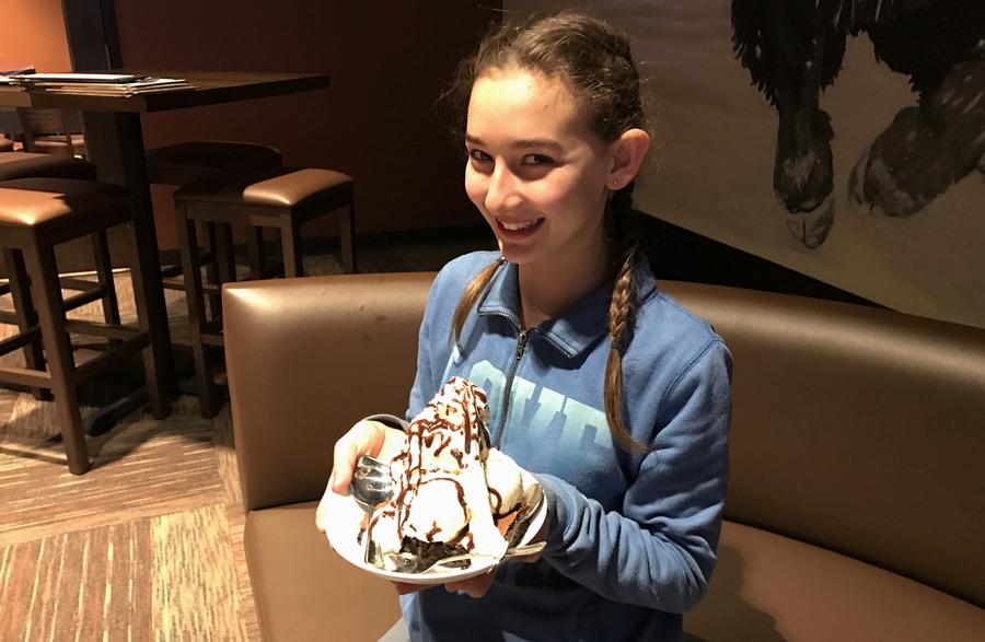 girl with ice cream dessert, the wild game, longmont