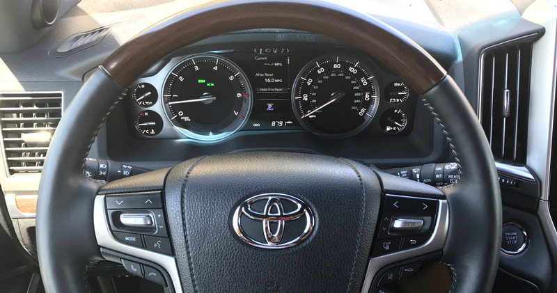 2017 toyota land cruiser dashboard guages